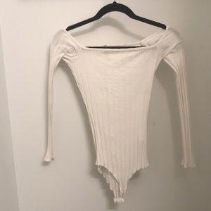 LF - emma and sam white bodysuit